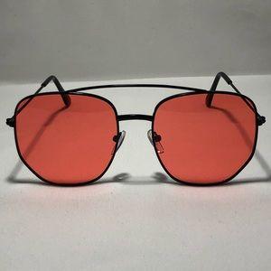 Other - Black/Red Pilot Aviator Sunglasses